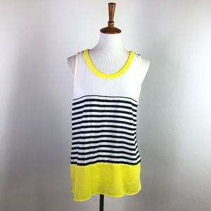 Market & Spruce Striped and Colorblock Blouse